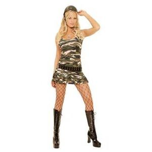 Elegant Moments Women's Size S Mini Dress Camo